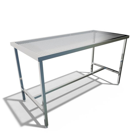 Table, Welded, Sanitary, Wash-Thu