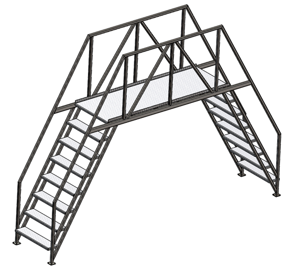 Walkover, Stairs/Ladder, Symmetrical, 40mm Tube