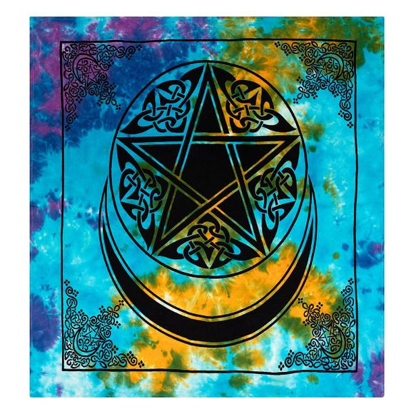 Moon and Pentacle Altar Cloth
