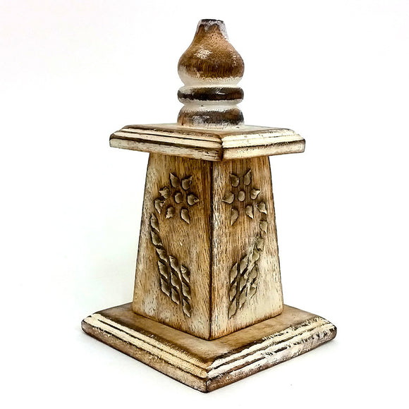 Wooden Incense Tower 18cm