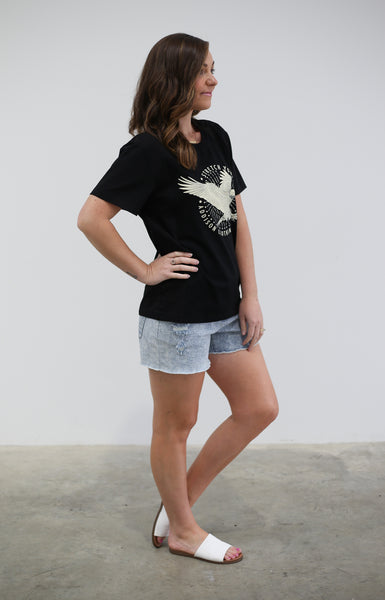 Stretch your wings tee - Black