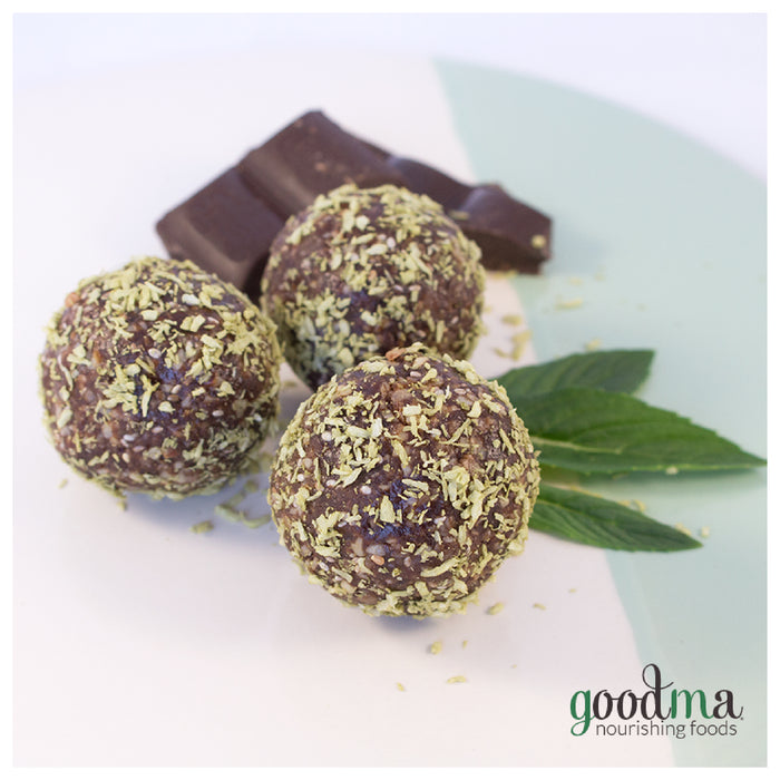 Minty Chocolate Energy Balls
