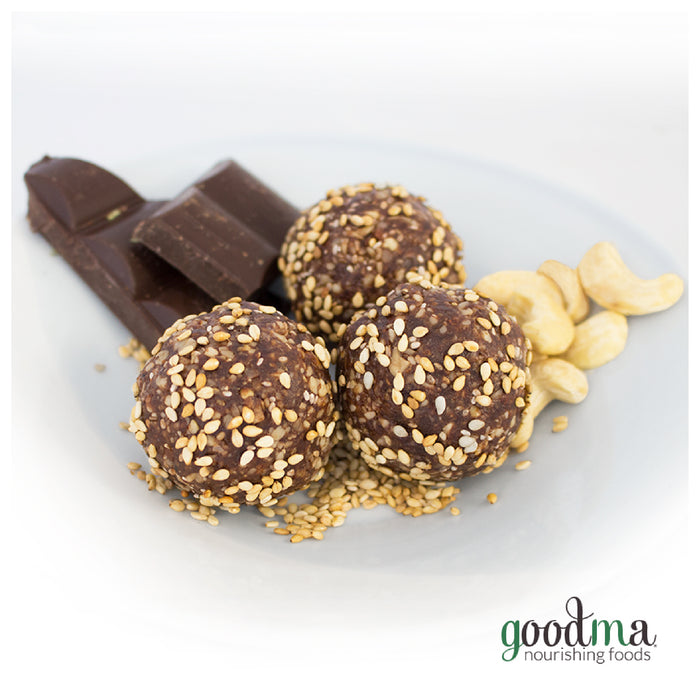 Sesame Chocolate Snap Energy Balls