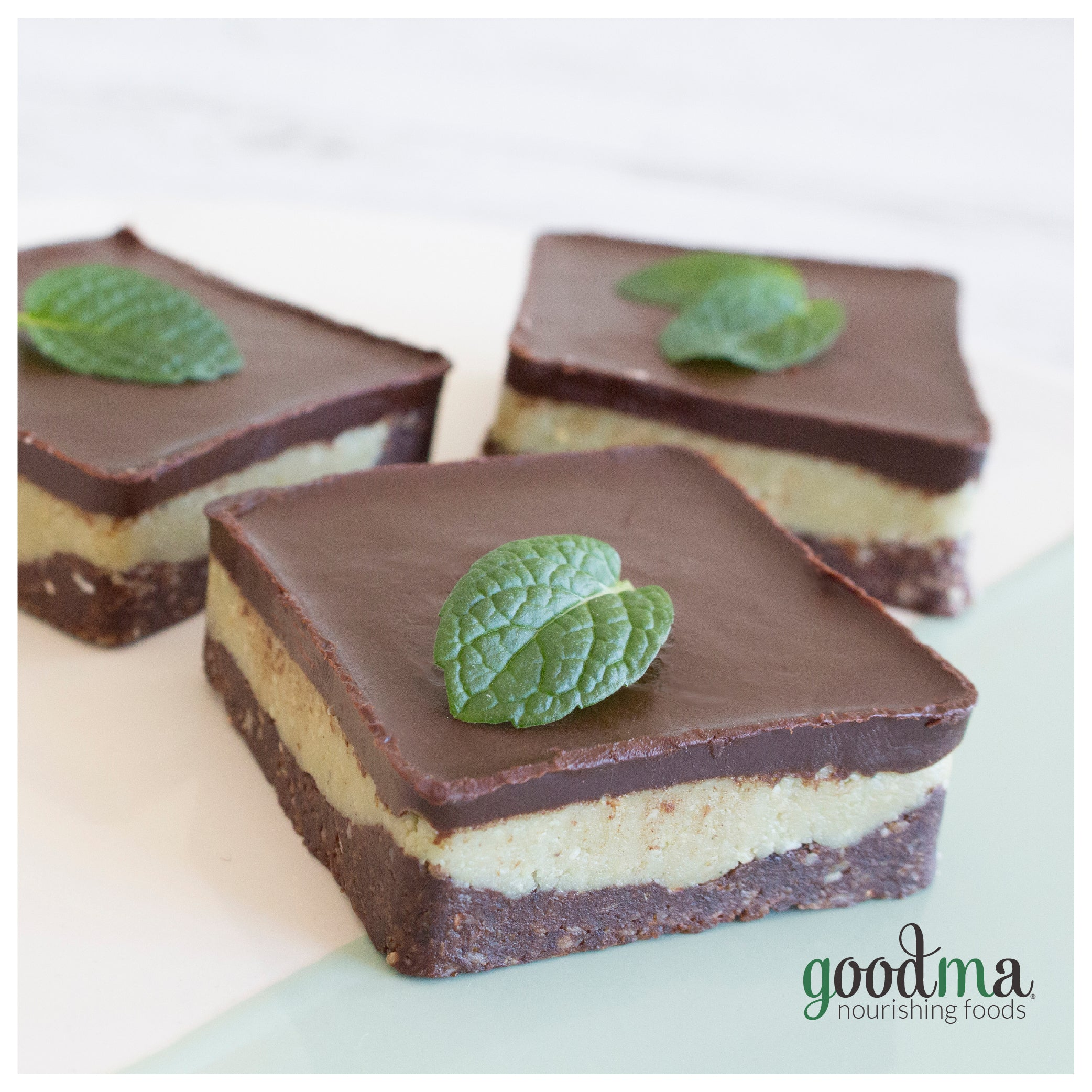 Chocolate Minty Raw Slices
