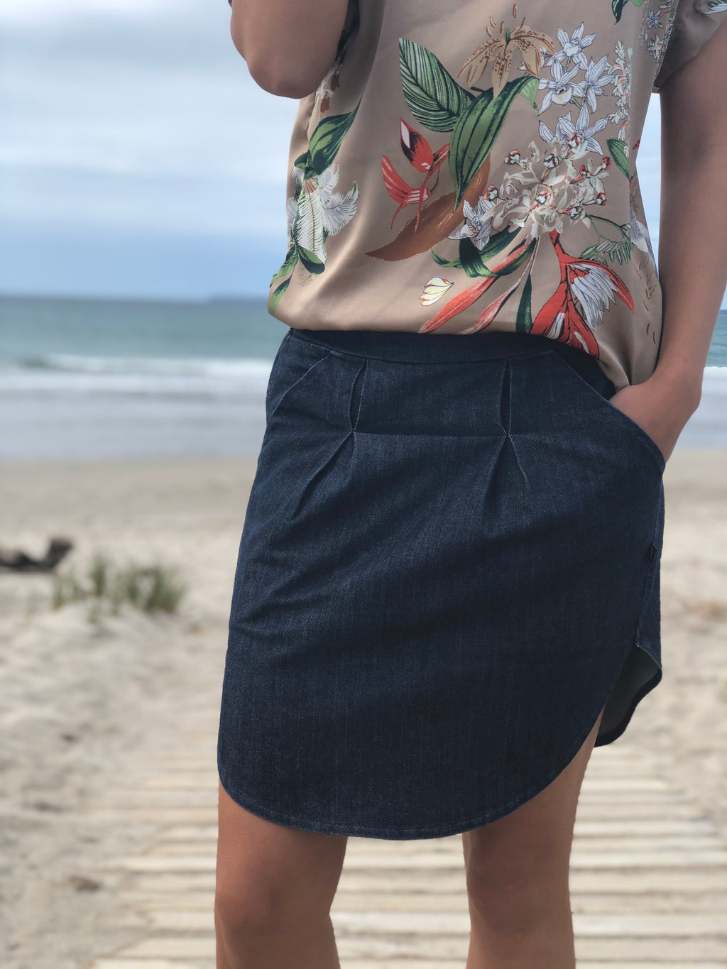 Artstori Nixon Denim Skirt Dark navy