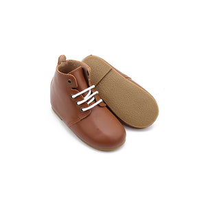 Oxford Boot Hard Sole - Caramel