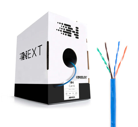 Next Cat6 Ethernet Bulk Cable - Solid, 550Mhz, CMR, Pure Copper, 23AWG