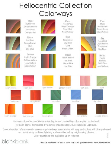 Heliocentric Lighting Colorways