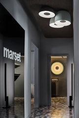 Marset Showroom in Milan. See the Concentric Sconce.  www.blankblank.net