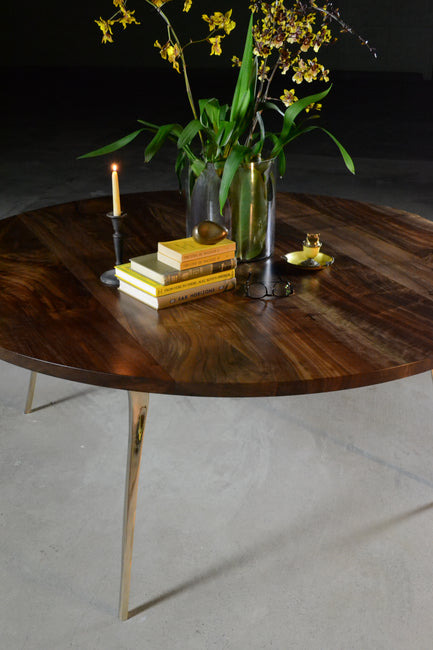Round Cast/Mill Dining Table