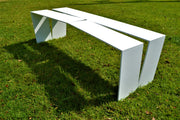 Divide Bench by Mark Goetz Matte White www.blankblank.net