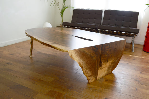 Waterfalled Cast/Slab Coffee Table - blankblankinc
