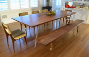 Squared Cast/Mill Dining Table - blankblankinc