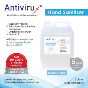 Hand Sanitizer with Organic Moisturizer 5L