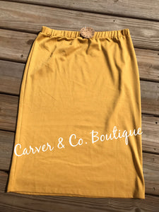 Perfect Pencil Skirt in Mustard