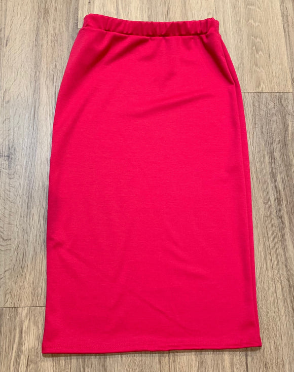 Perfect Junior Pencil Skirt in Hot Pink