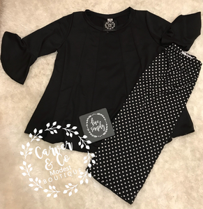 """Date Night"" Top with Bell sleeve"