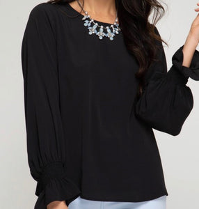 """Perfection at its Finest"" Top In Black"