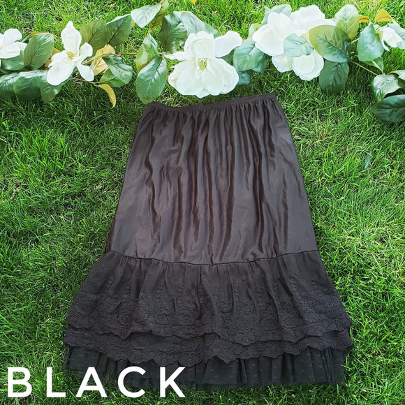 """Ruffles and Lace"" In black"