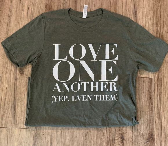 """Love One Another"" Ladies Tee in Plus"