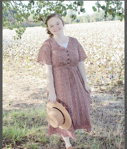 """Sweet and Kind"" Dress in Mauve"