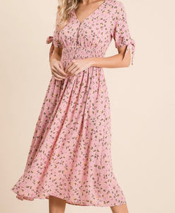 """You are Somebody Special"" Floral Midi Dress"