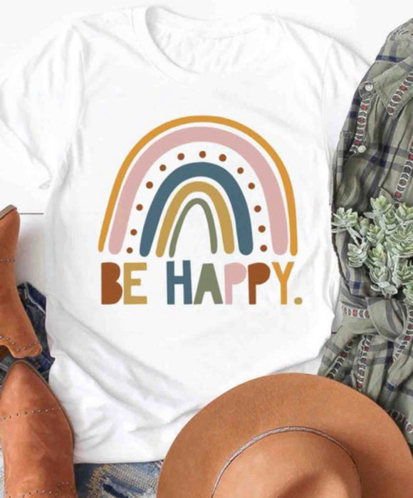 """Be Happy"" Ladies Tee"