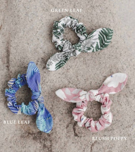 Linen Printed Scrunchie with Hairtie