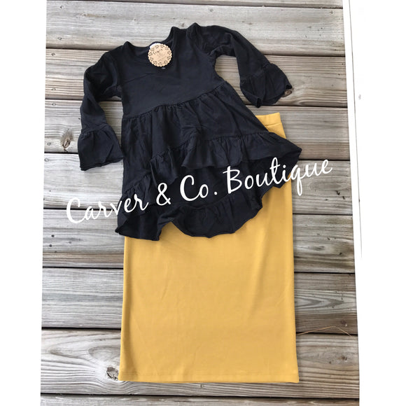 Perfect Junior Pencil Skirt in Mustard