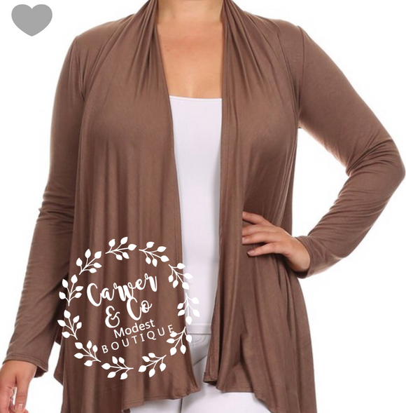 """Go With the Flow"" Plus Cardigan"