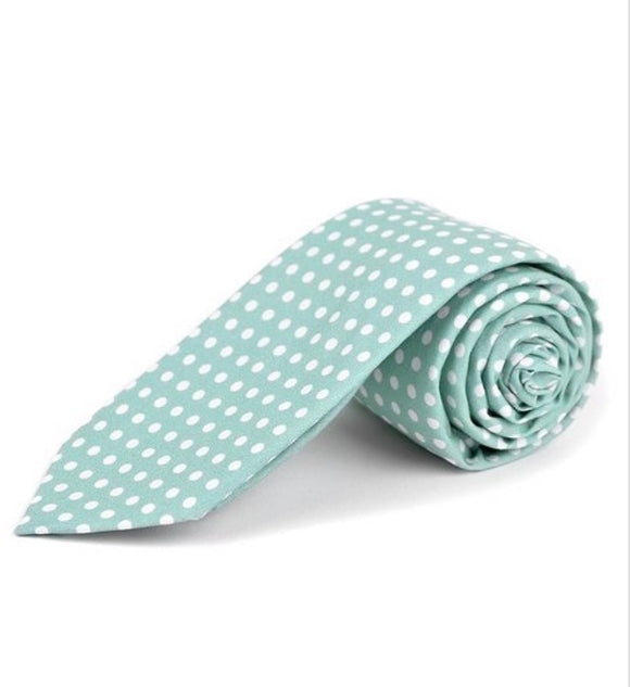 Mini Polkadot Tie In Mint