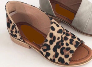 """Wrapped in Love"" Leopard Flats"