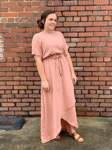 """Happiest of Days"" Wrap Dress In Rose Pink"