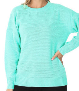 Basic Sweater in Mint