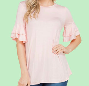"""Feeling Spring Vibes"" Ladies Top In Pink"
