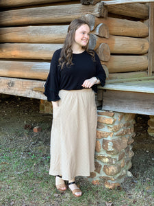 """Act Like a Natural"" Skirt In Natural"