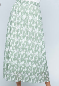 """Give Me Grace"" Midi Skirt In Sage"
