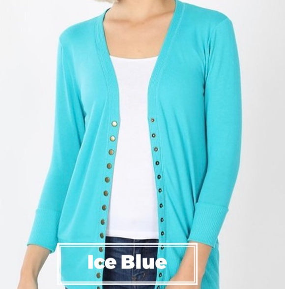 """All Purpose Cardigan"" In Ice Blue"