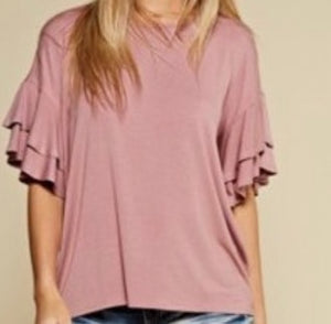 """Heart of Gold"" Top In Rose"
