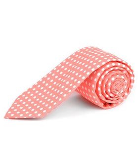 Mini Polkadot Tie In Coral
