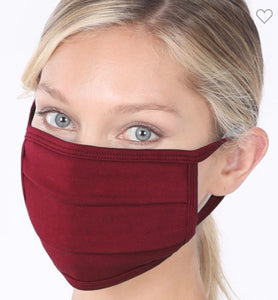 """Everyday Mask"" in Burgundy"