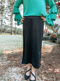 Perfect Pencil Skirt LONG in Black