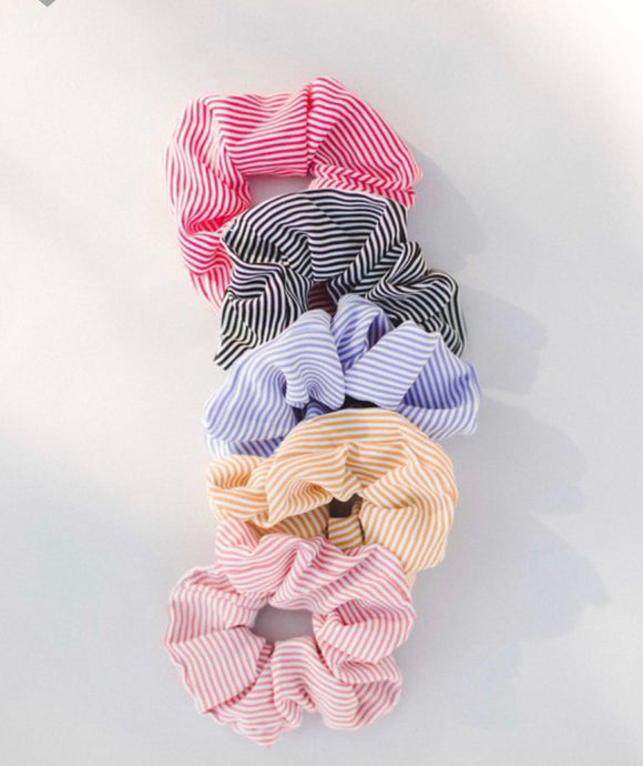 Skinny Striped Scrunchie