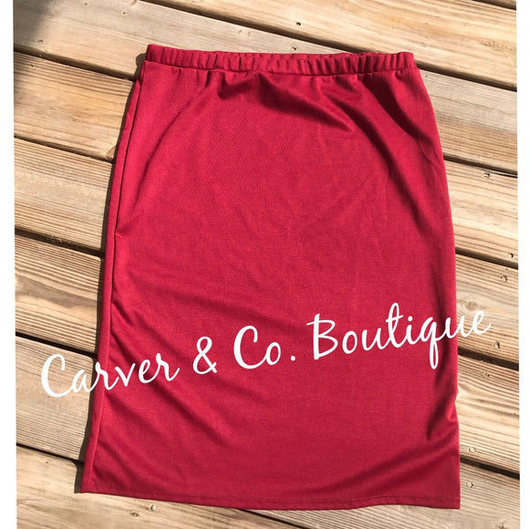 Perfect Junior Pencil Skirt in Burgundy