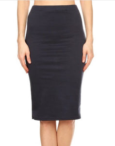 Perfect Junior Pencil Skirt in Navy