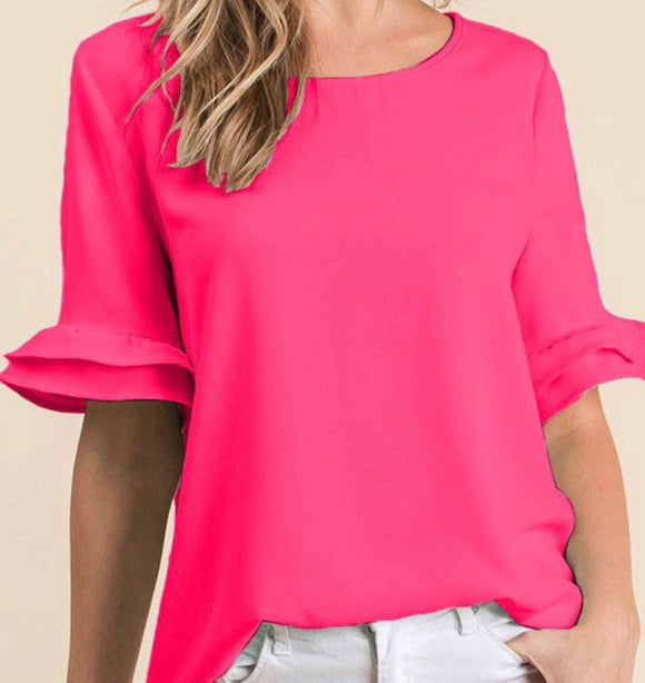 """Sweet Summer"" Top In Hot Pink"