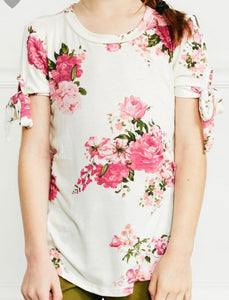 """On the Eve of Spring"" Girls Floral Top"