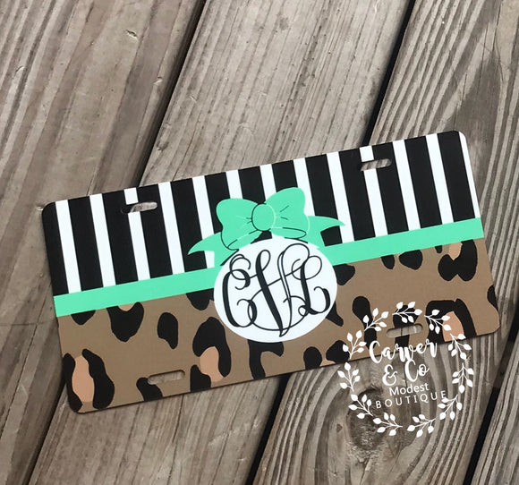 """Leopard and Stripes"" with Mint"