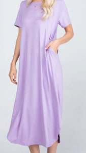"""The Beach is Calling"" Dress in Lavender"