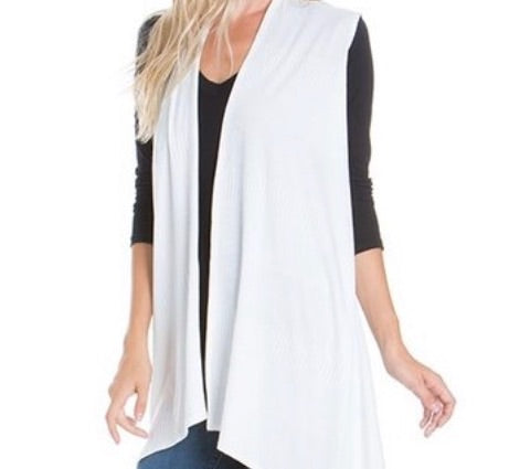 Jersey Vest in White